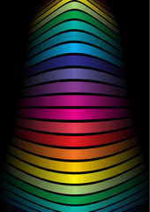 Rainbow colored vector shape