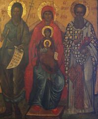 St. John the Baptist, Ann, Joachim and Madonna with Child Jesus