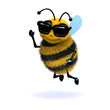 3d Honeybee wearing shades