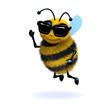 3d Honeybee wearing shades