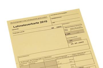 Lohnsteuerkarte
