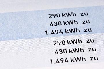 Jahresrechnung Strom