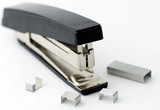 Office stapler isolated on white