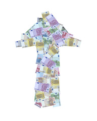 freccia banconote euro