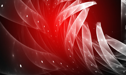mystical background bright red