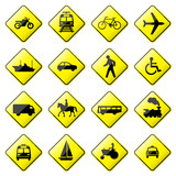 Fototapety Road Sign Glossy Vector (Set 4 of 8)