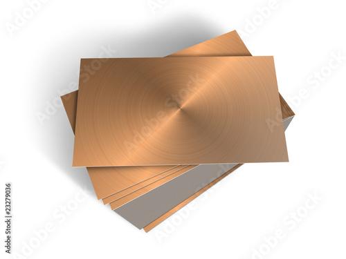 Planchas de metal apiladas