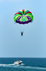 Parasailing on vacation