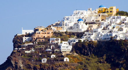 town of Imerovigli on the volcanic cliffs of Santorini