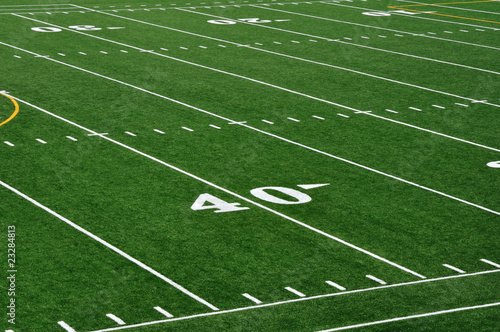 40 Yard Line on American Football Field