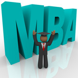 Mba - Letters and Business Man poster
