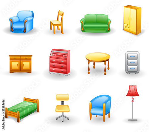 Furniture icon set