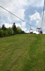 Cable car in rodnei mountains