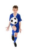 Boy soccer skills poster