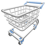 Fototapety A shiny shopping cart trolley vector illustration