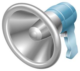 Bullhorn megaphone loudspeaker loudhailer