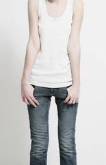 shape of thin woman