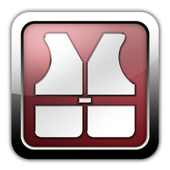 "Glossy Square Icon ""Life Vest"""