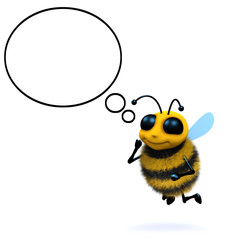 3d Bee thinking