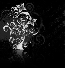 Floral Grounge Background
