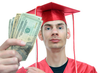Graduate Holding Money