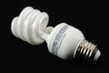 fluorescent bulb with black background