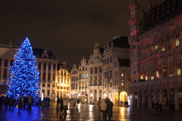 Brussels Old Town by Night