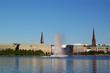 Leinwanddruck Bild - alster springbrunnen / Hamburg