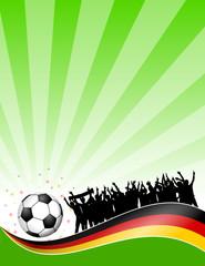 plakat fussball(feld) deutschland XII