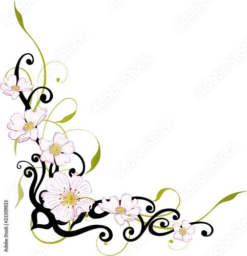 Gamesageddon Ranke Floral Filigran Blumen Blatter Grun