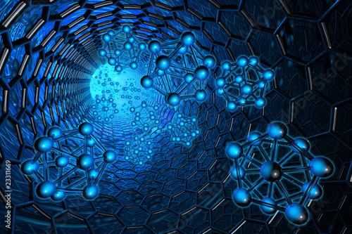 Nanotechnology. Hi-res digitally generated image.
