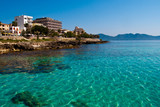 Transparent water and the beach of Mediterranean Sea on Majorca - Fine Art prints