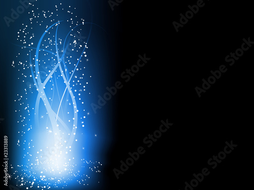 Blue Colorful Glowing Lines Background.