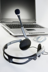 Headset mit Laptop