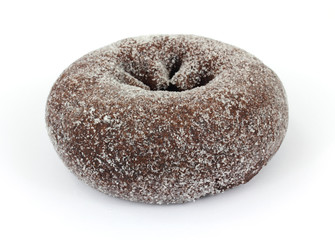 Fresh chocolate sugar sprinkled donut