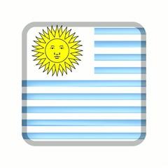 animation bouton drapeau uruguay