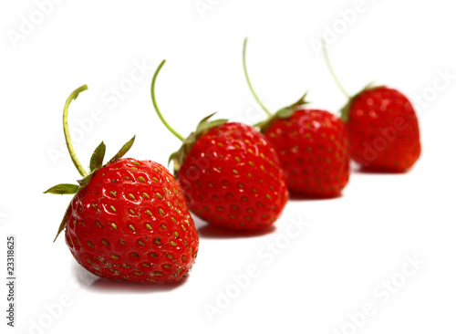strawberries abreast