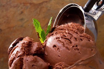 Delicious chocolate ice cream