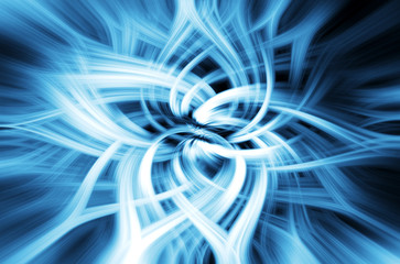Bright Blue And Silver Digital Background