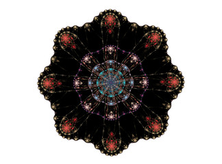 Abstract Fractal Disc 007