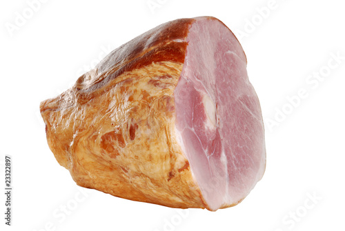 isolated smoked ham