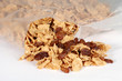 spilling bran and raisin cereal