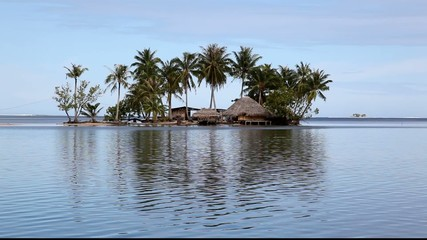 Motu before Raitea, French Polynesia