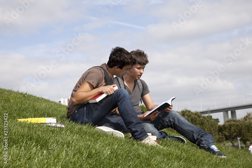 Studing in outdoor