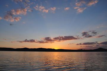 Sonnenuntergang am Bertzdorfer See 3
