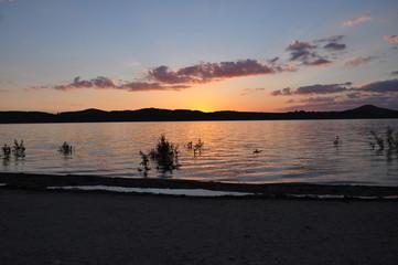 Sonnenuntergang am Bertzdorfer See 4