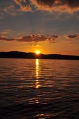 Sonnenuntergang am Bertzdorfer See 15