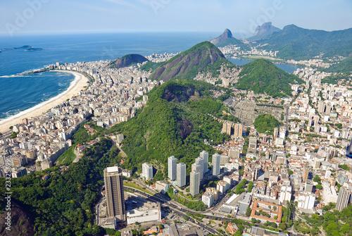 Aerial view of the dramatic Rio De Janeiro Coast