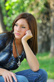 Thoughtful teen girl
