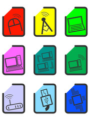 basic computer icons and symbols